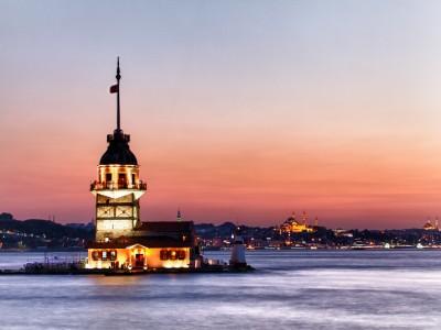 İstanbul kızkulesi günbatımı
