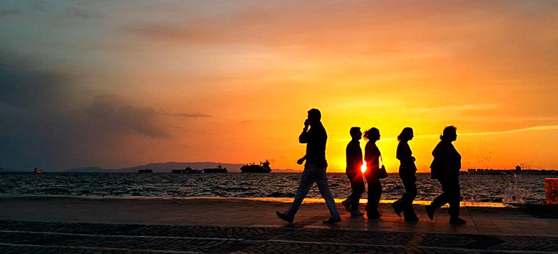 İzmir kordon da günbatımı